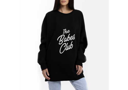Brunette The Label Babes Club Big Sister Oversized Crew