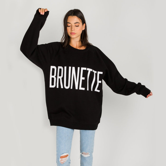 Brunette Big Sister Oversized Crew