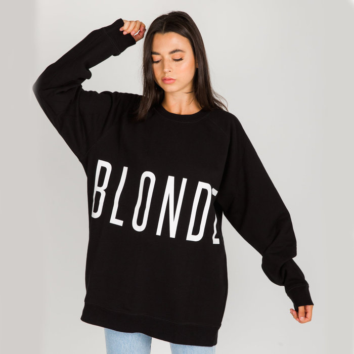 Blonde Big Sister Oversized Crew