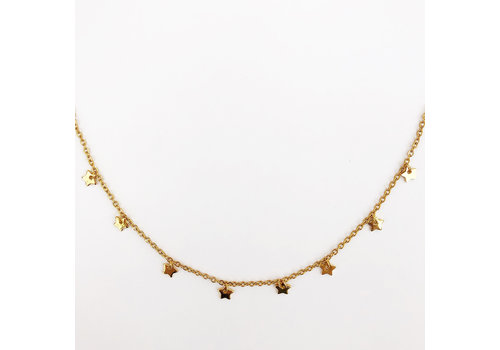 Jewellery By HannahLynn Star Choker Gold