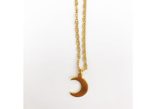Jewellery By HannahLynn Crescent Moon Necklace Gold