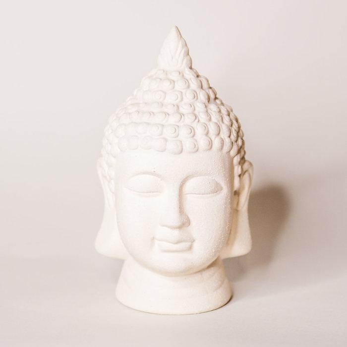 "Concrete Buddha Head 5"" x 8.5"""