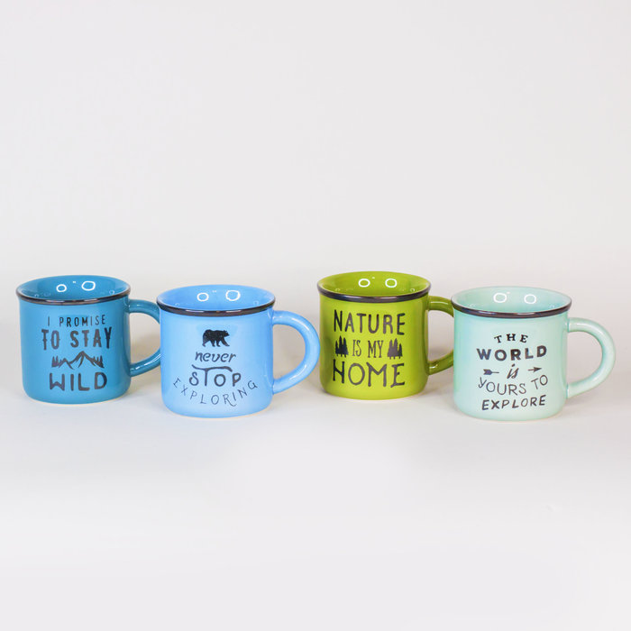 True North Ceramic Printed Mug