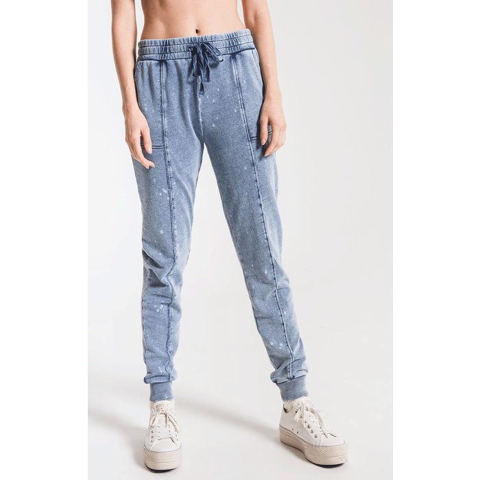 Knit Denim Bleach Jogger