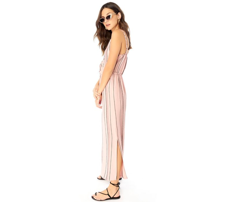 Crop Jumper With Ruffle Tie Front