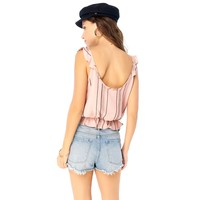 Tank With Ruffle Strap