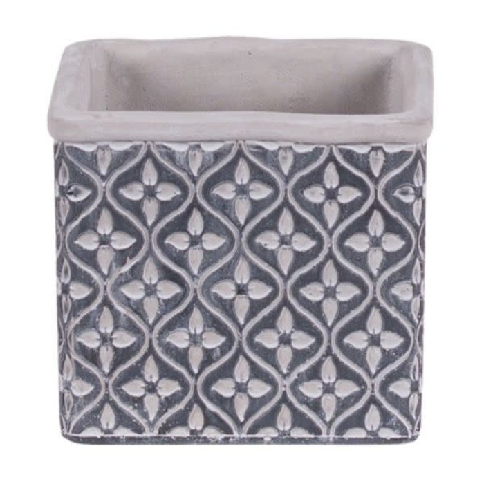 Leaf Square Cement Pot 5""