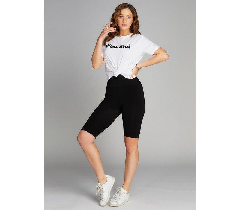 High Waisted Long Shorts