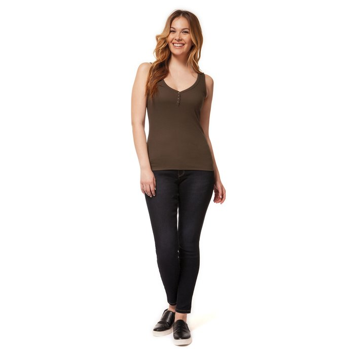 Muscle Tank With Button Details