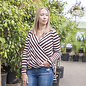 Kia Honie Stripe Wrap Top Birch Stripes