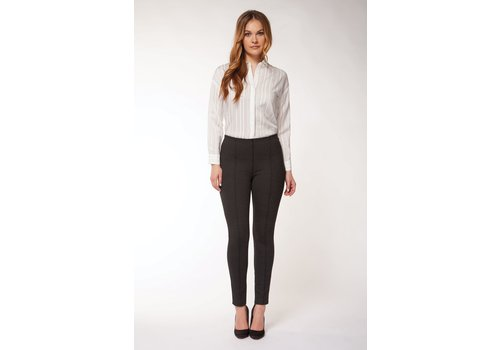Black Tape Legging With Front Pintuck Detail