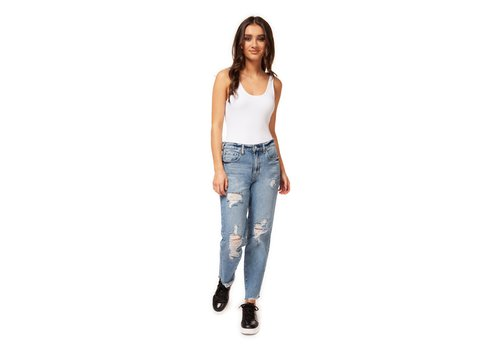Dex High Rise Destructed Mom Jean
