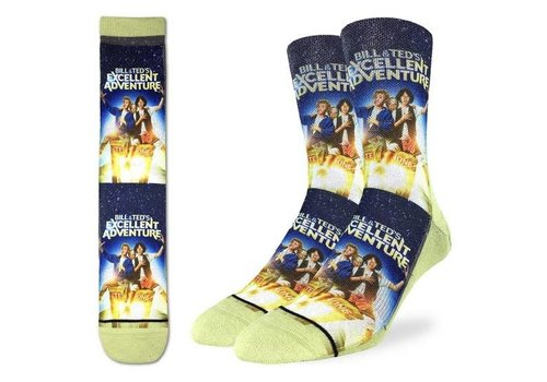 Good Luck Sock Men's Bill & Ted's Excellent Adventure Socks