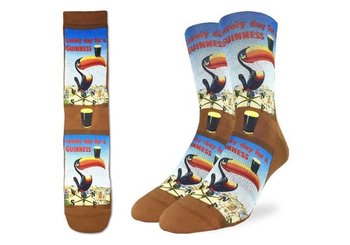 Good Luck Sock Men's Lovely Day For A Guinness Toucan Socks