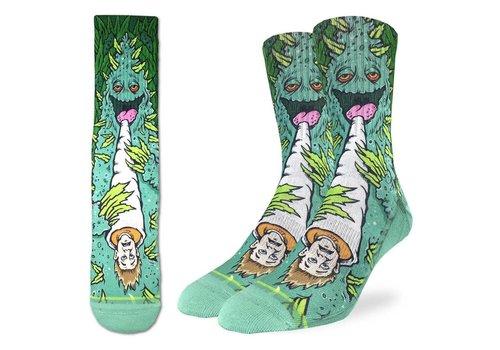 Good Luck Sock Men's Weed Smoking A Human Socks