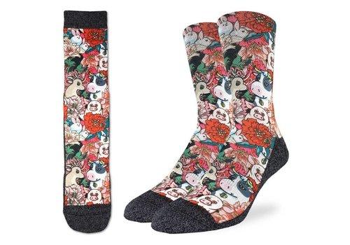 Good Luck Sock Men's Floral Farm Socks
