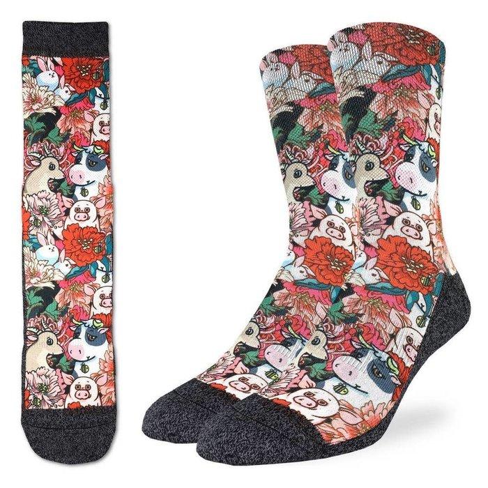 Men's Floral Farm Socks