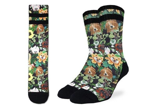 Good Luck Sock Men's Botanical Dogs Socks