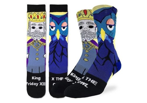 Good Luck Sock Men's Mister Rogers King Friday Socks