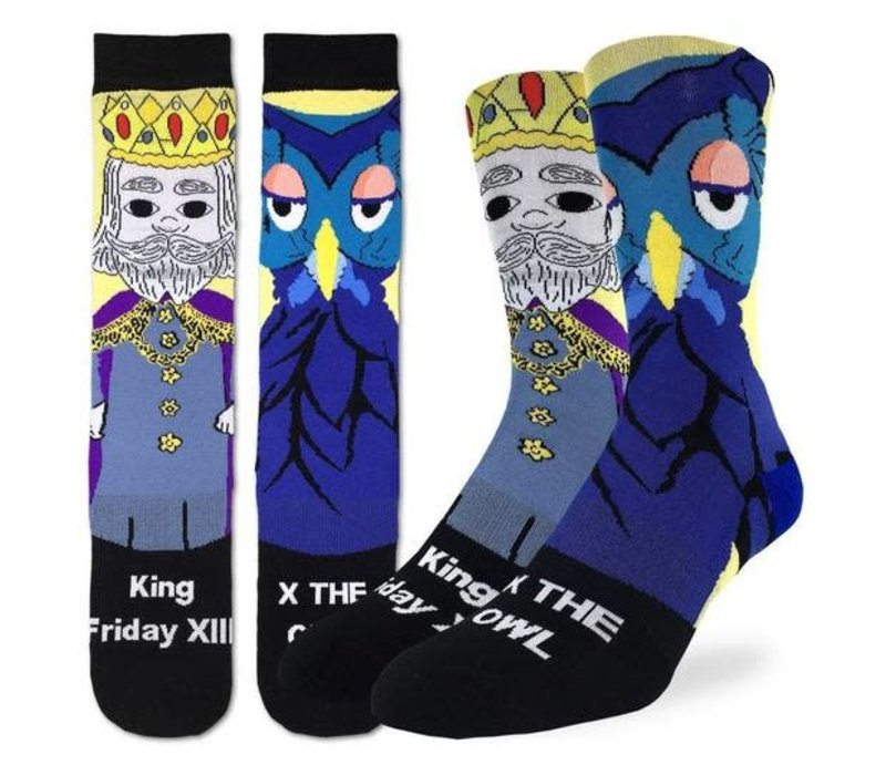Men's Mister Rogers King Friday Socks