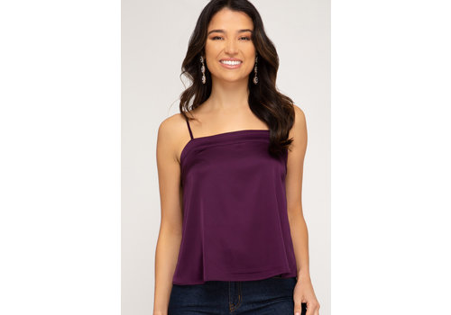 She & Sky Cami Satin Top