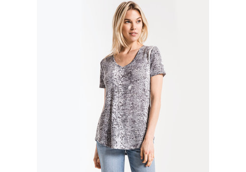 Z Supply Snakeskin V Neck