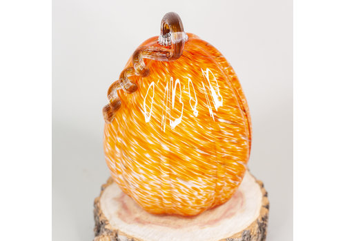 Glass Pumpkin Orange 17x17x26cm