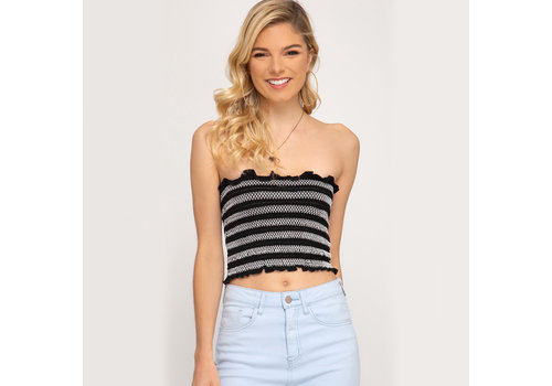 She & Sky Knit Bandeau Top