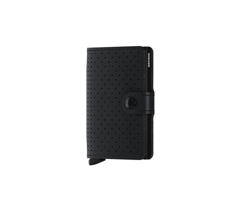 Mini Wallet Perforated Black