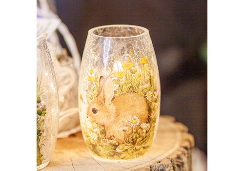 """Stony Creek Spring Bunny Pre Lit Vase 3.25x5.25"""""""
