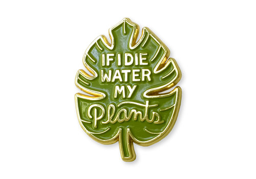 Wit & Whistle Enamel Pin Water My Plants