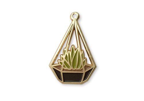 Wit & Whistle Enamel Pin Terrarium Love