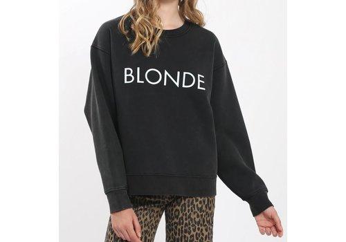 Brunette The Label Blonde Acid Wash Crew
