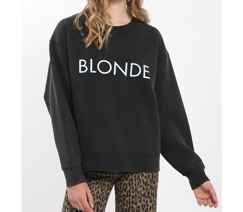 Blonde Acid Wash Crew