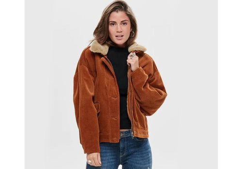 ONLY Bitten Cord Button Fur Jacket