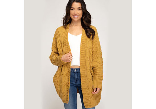 She & Sky Cable Knit Cardigan
