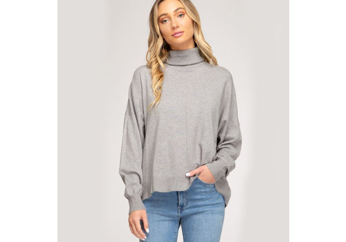 She & Sky Turtleneck Light Knit