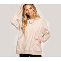 French Terry Knit Top