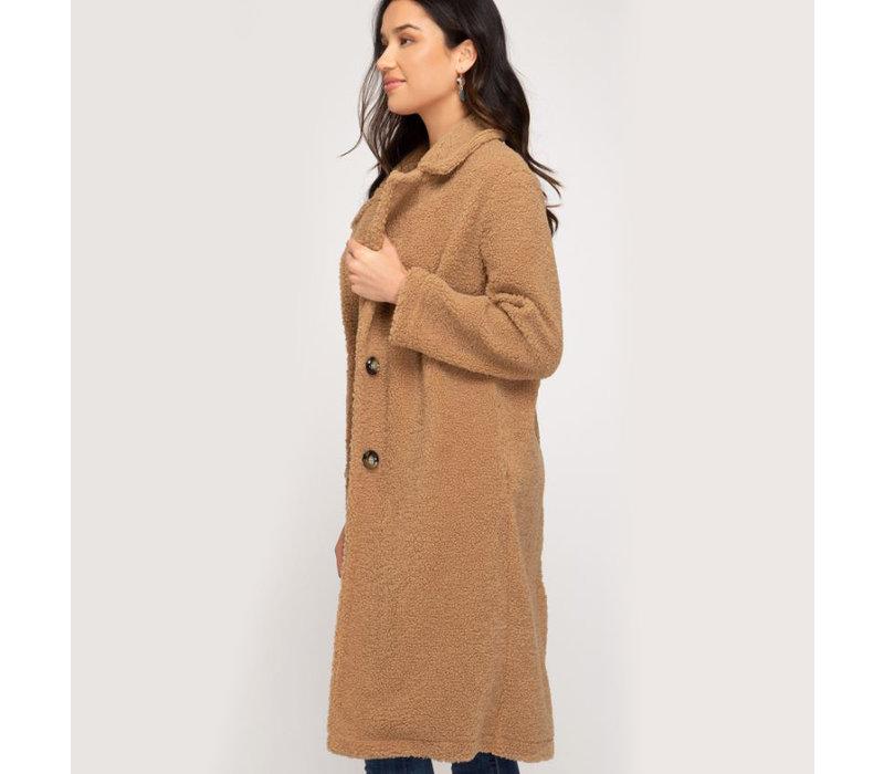 Long Teddy Bear Coat