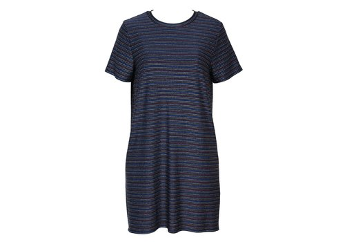 Mink Pink Dream A Dream Lurex T-Shirt Dress