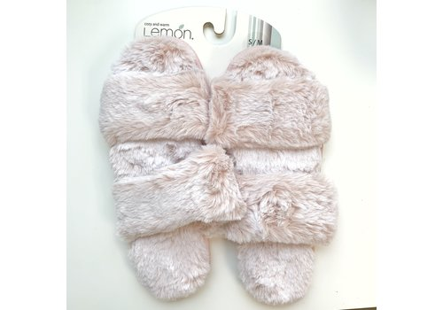 Lemon Loungewear Two Strap Fur Slide