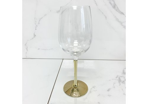 Koopman International Wine Glass Gold Stem