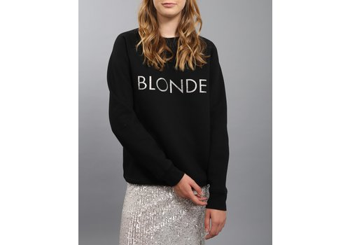 Brunette The Label Blonde Silver Glitter Crew