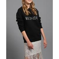 Blonde Silver Glitter Crew