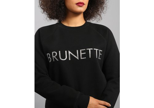 Brunette The Label Brunette Silver Glitter Crew