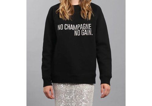 Brunette The Label No Champagne Silver Glitter Crew