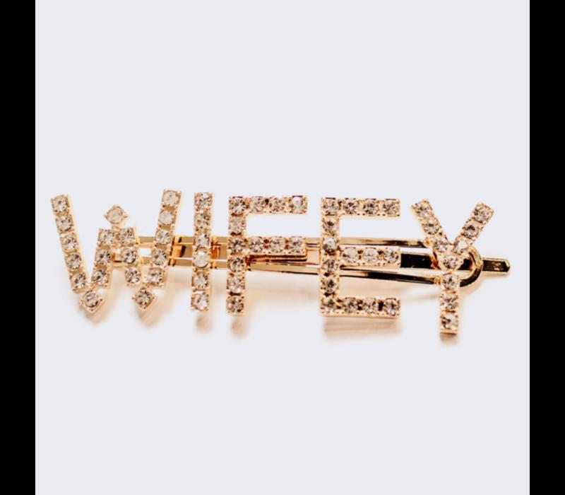 Wifey Pin Gold