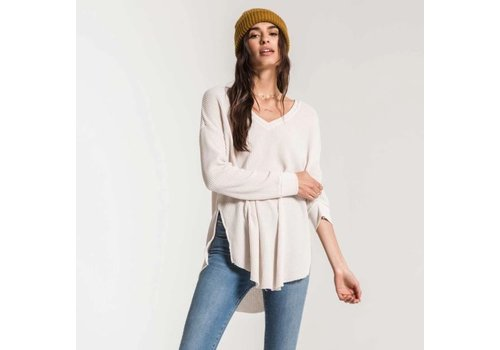 Z Supply Waffle Thermal Distressed Top