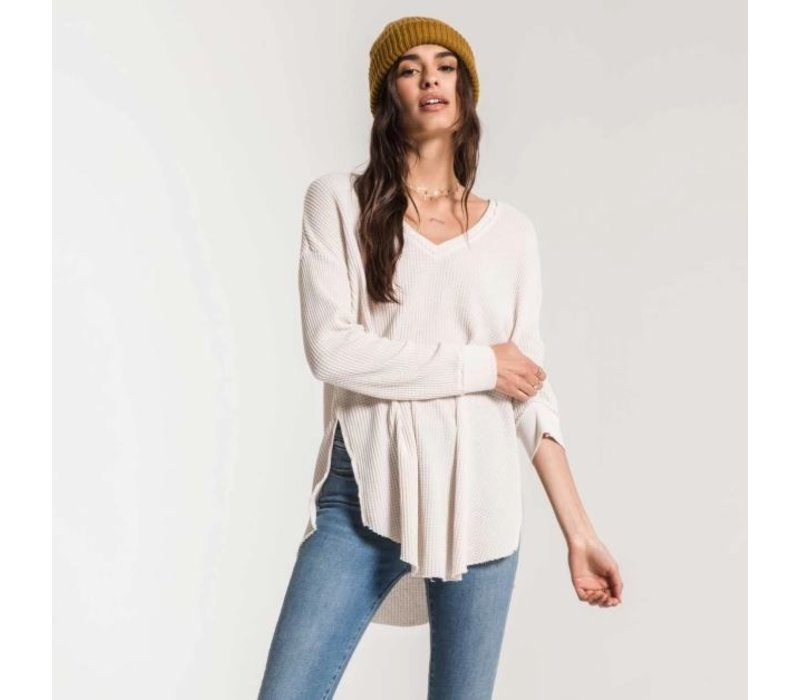 Waffle Thermal Distressed Top