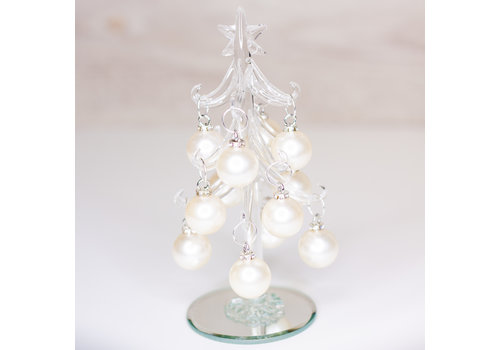 Glenhaven Home & Holiday Clear Glass Christmas Tree
